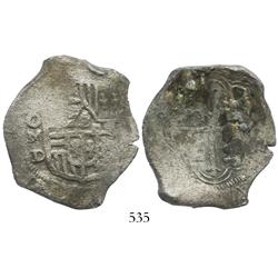 Mexico City, Mexico, cob 8 reales, Philip IV, assayer D.