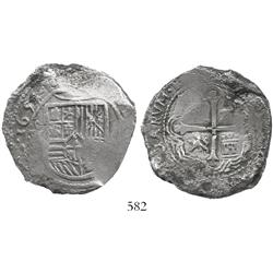 Mexico City, Mexico, cob 8 reales, 1655(P).