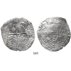 Potosi, Bolivia, cob 8 reales, 1653E.