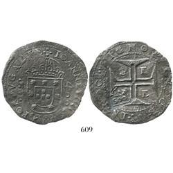 Brazil, 500 reis ( S00  countermark of 1663 on an Evora, Portugal, 400 reis of John IV), rare.