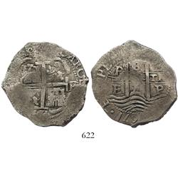 Potosi, Bolivia, cob 8 reales, 1671E.