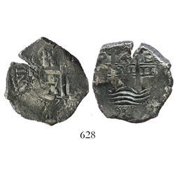 Potosi, Bolivia, cob 4 reales, 1671E.
