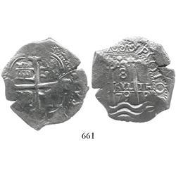 Potosi, Bolivia, cob 8 reales, 1679C.