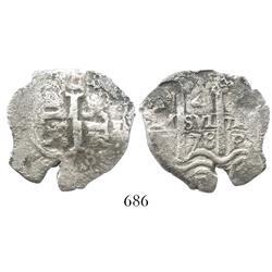Potosi, Bolivia, cob 4 reales, 1678(E).