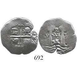 Potosi, Bolivia, cob 2 reales, 1655E.