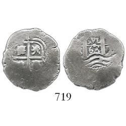 Potosi, Bolivia, cob 1 real, 1663E.