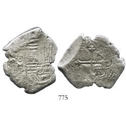 Mexico City, Mexico, cob 8 reales, 1665(?)P, rare.
