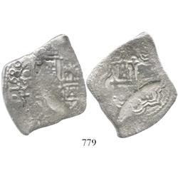Mexico City, Mexico, cob 8 reales, 1680L.