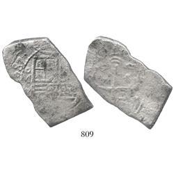 Mexico City, Mexico, cob 8 reales, (1)687L, rare.