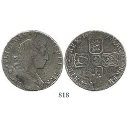 Exeter, England, half crown, William III, 1697-E.
