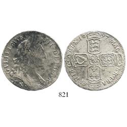 Norwich, England, half crown, William III, 1697-N.