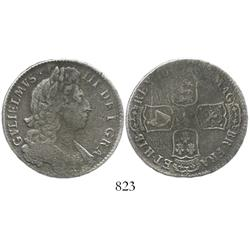 London, England, half crown, William III, 16(96-99).