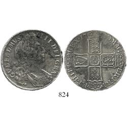 London, England, half crown, William III, 1700.