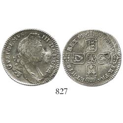 London, England, shilling, William III, 1697.