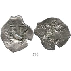 Mexico City, Mexico, cob 4 reales, Philip IV, assayer P, with weight-adjustment plugs as from circul