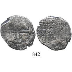 Potosi, Bolivia, cob 4 reales, 1691VR.