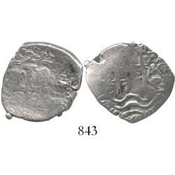 Potosi, Bolivia, cob 2 reales, 1678E.