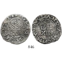 Massachusetts Bay Colony, pine tree shilling, 1652, nice specimen.