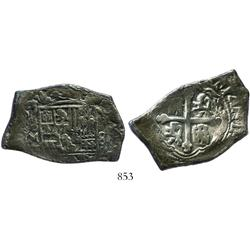 Mexico City, Mexico, cob 8 reales, 1709J, rare.