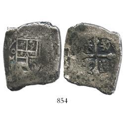 Mexico City, Mexico, cob 8 reales, (17)09J, rare.