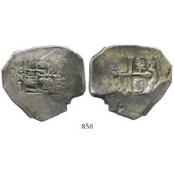 Mexico City, Mexico, cob 8 reales, 171(3?)J.