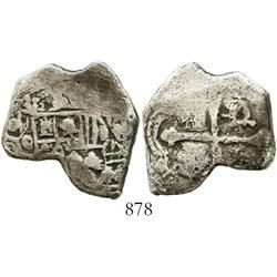 Mexico City, Mexico, cob 4 reales, (1)712(J), odd shape, rare.
