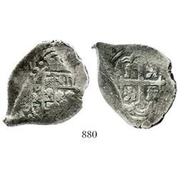 Mexico City, Mexico, cob 4 reales, 1715J, rare.