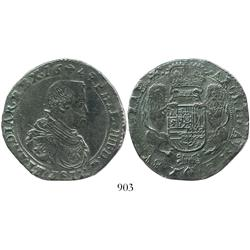 Brabant, Spanish Netherlands (Brussels mint), portrait ducatoon, Philip IV, 1649.