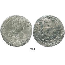 Brabant, Spanish Netherlands (Antwerp mint), portrait half ducatoon, Charles II, 1673, very rare.