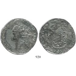 Zeeland, United Netherlands, silver ducat, 1713, rare as from this wreck.