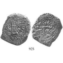 Mexico City, Mexico, cob 8 reales, assayer R (1729-30).