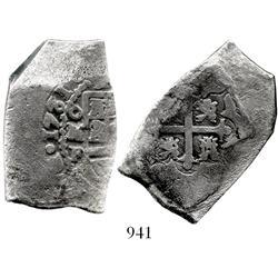 Mexico City, Mexico, cob 8 reales, 1731/0F.