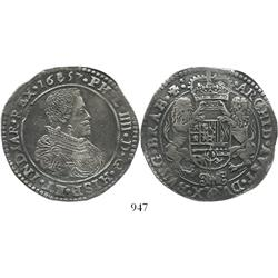Brabant, Spanish Netherlands (Antwerp mint), portrait ducatoon, Philip IV, 1657, exceptional specime