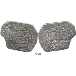 Mexico City, Mexico, klippe 8 reales, 1733MF, very rare provenance.