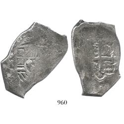 Mexico City, Mexico, cob 8 reales, assayer D (1724-8).