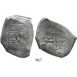 Mexico City, Mexico, cob 8 reales, assayer F (1730-3).