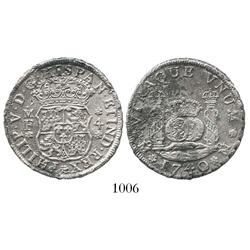 Mexico City, Mexico, pillar 4 reales, Philip V, 174/30MF.