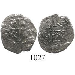 Lima, Peru, cob 1 real, 1709/8M, rare overdate (unlisted).