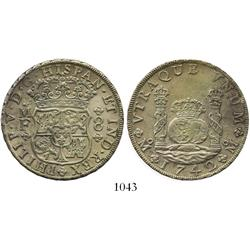 Mexico City, Mexico, pillar 8 reales, Philip V, 1742MF, choice.