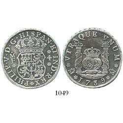 Mexico City, Mexico, pillar 4 reales, Philip V, 1739MF, choice.