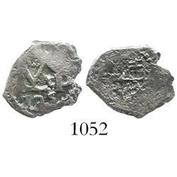 Potosi, Bolivia, cob 1/2 real, 1725, Louis I (clear monogram), rare.