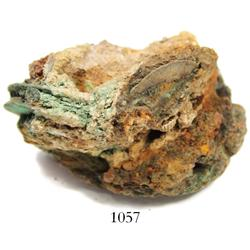 Clump of at least 5 Dutch East India Co. copper duits (should all be dated 1752) in encrustation.