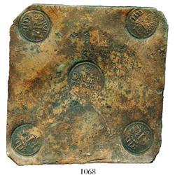 Sweden, copper  plate money  2 dalers, Fredrik I, 1750.