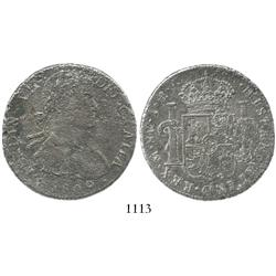 Mexico City, Mexico, bust 8 reales, Ferdinand VII transitional (armored bust), 1809TH.