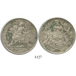 Guatemala, 1 peso, 1896.