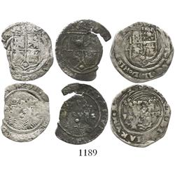 Lot of 3 Lima, Peru, 1R, Philip II, assayer Rincon.
