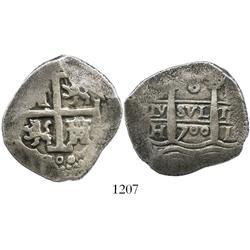 Lima, Peru, cob 8 reales,1700H.
