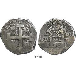 Lima, Peru, cob 8 reales, 1720M.