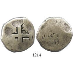 Lima, Peru, cob 8 reales, 1745V.
