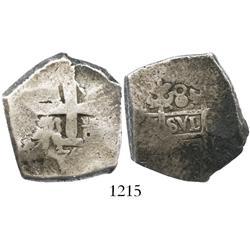 Lima, Peru, cob 8 reales, 1750R, extremely rare.